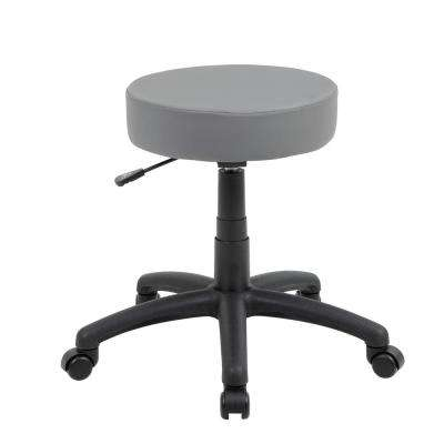 Gray Vinyl Dot Stool