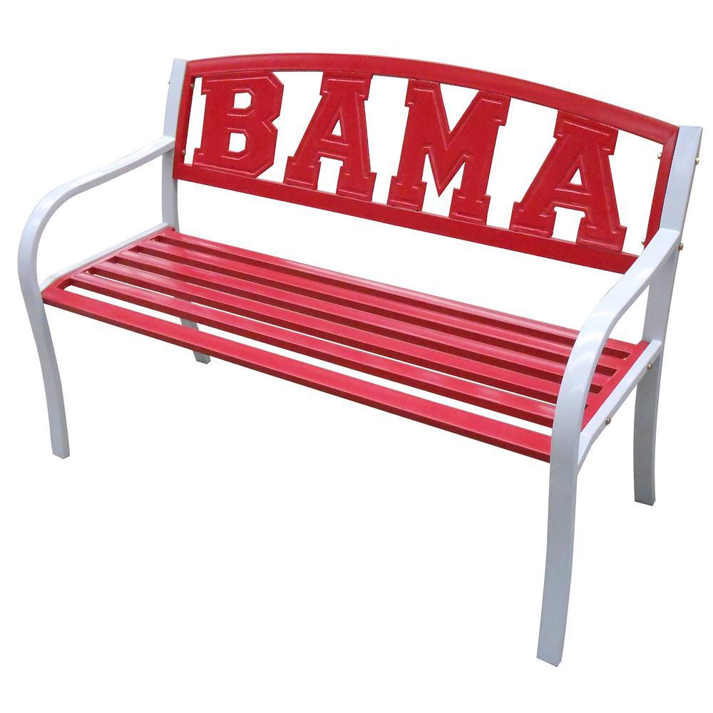 Crimson Tide Bama Metal Patio Bench