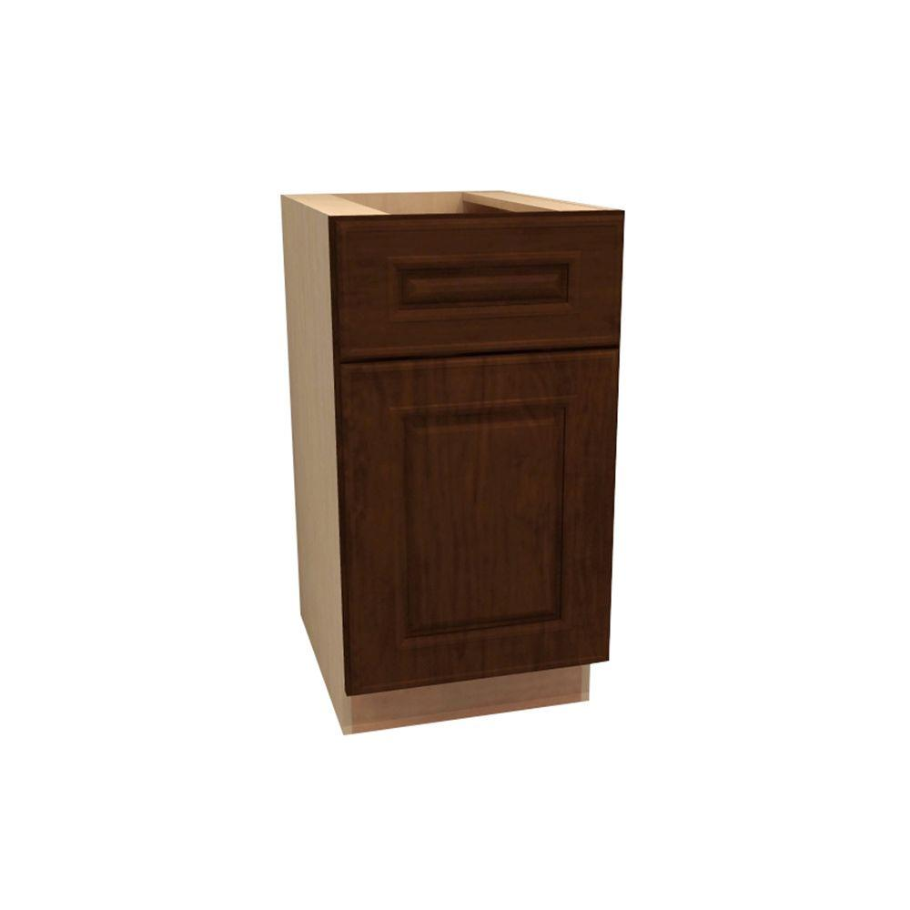 Home Decorators Collection Roxbury Assembled 15x34.5x24 in. Single Pullout Wastebasket Base Kitchen Cabinet in Manganite