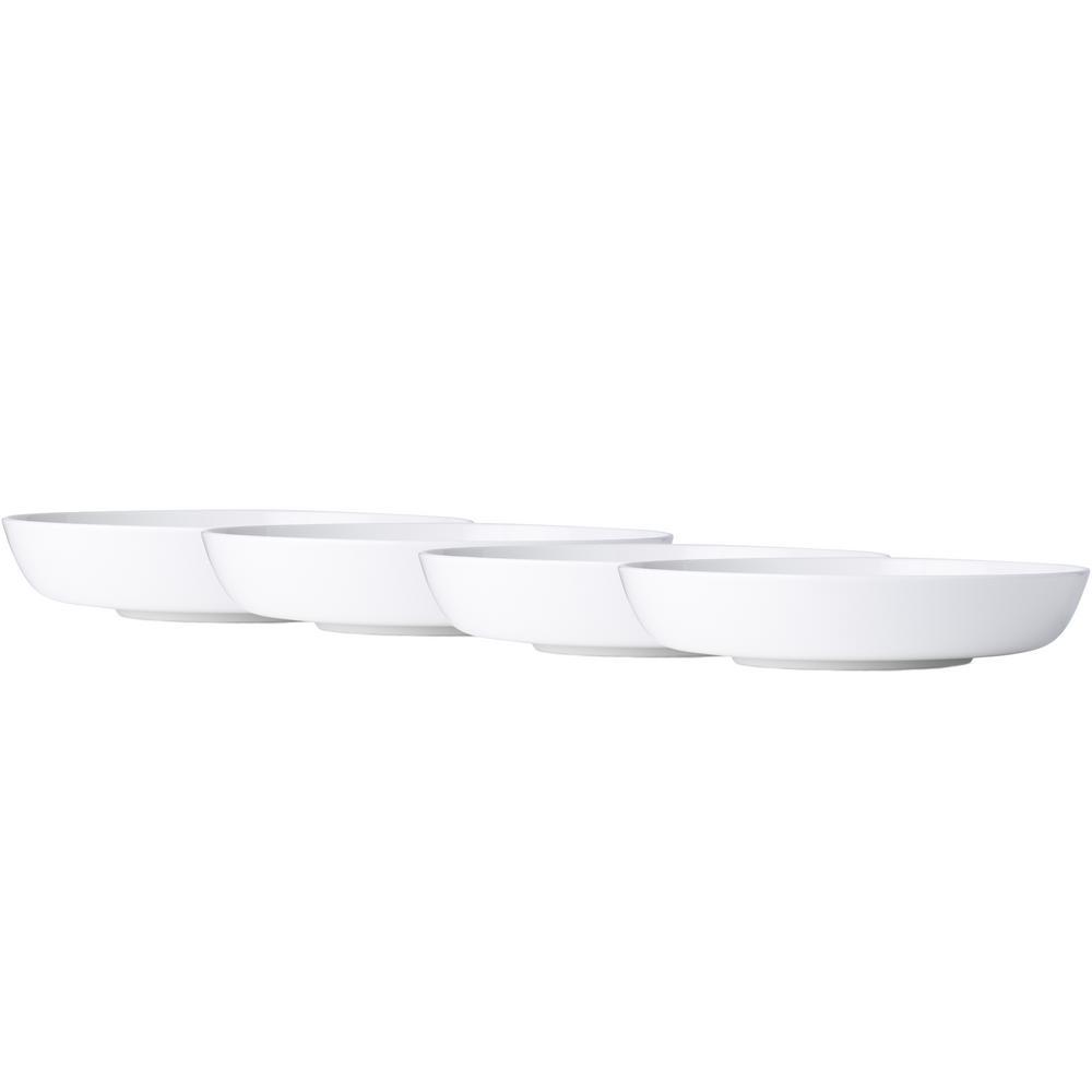 Marc Newson 9 in., 38 oz. White Bone China Pasta Bowls (Set of 4)