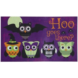 Home Accents Hoo Goes There 18 inch x 30 inch Door Mat by Home Accents