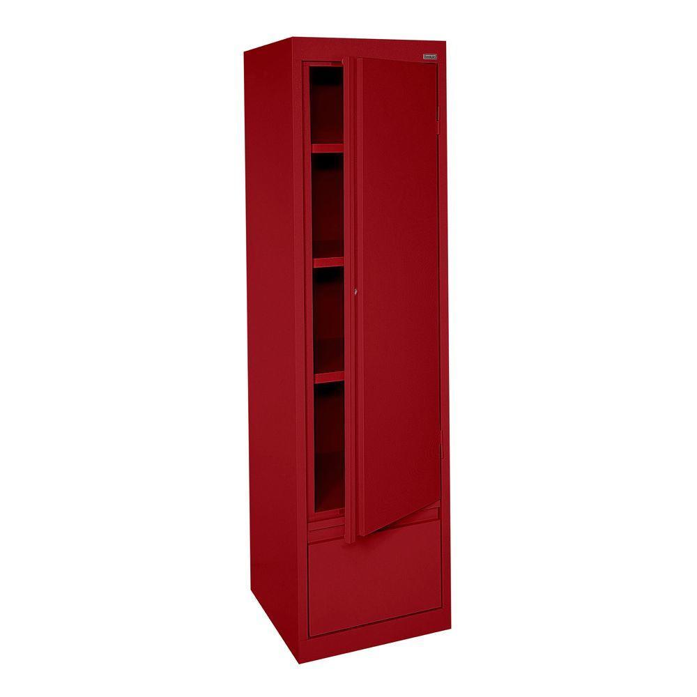 Sandusky System Series 17 in. W x 64 in. H x 18 in.  sc 1 st  Home Depot & Sandusky System Series 17 in. W x 64 in. H x 18 in. D Red Single ...