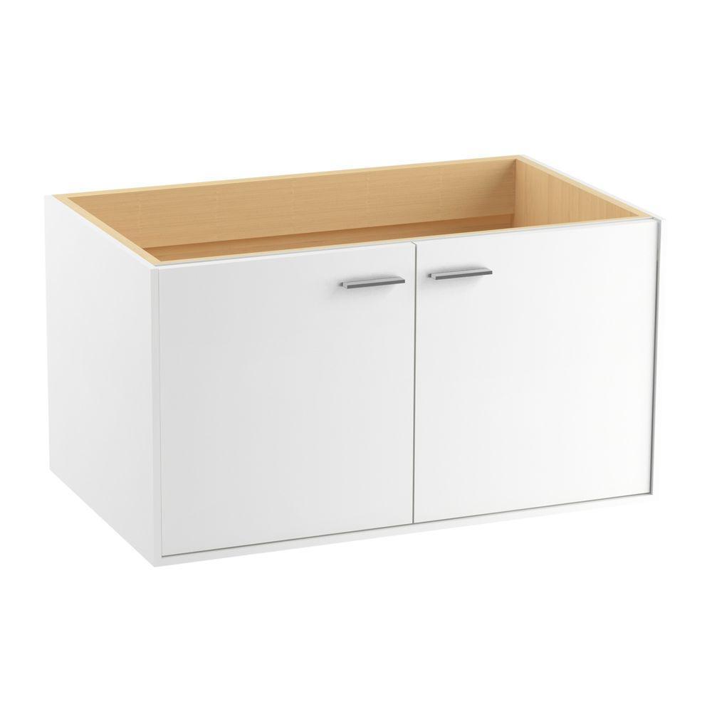 Jute 36 in. Vanity Cabinet in Linen White