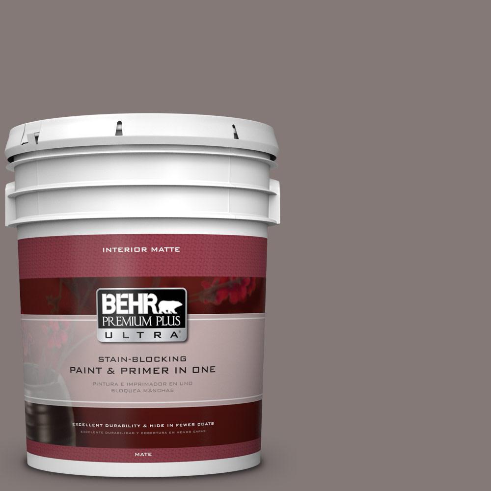 5 gal. #N140-5 Complex Gray Matte Interior Paint