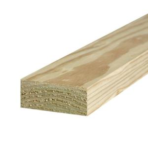 2 in. x 4 in. x 8 ft. #2 Ground Contact Pressure-Treated Lumber