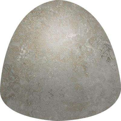 Sandalo Castillian Gray 1 in. x 1 in. Ceramic Quarter Round Corner Wall Tile