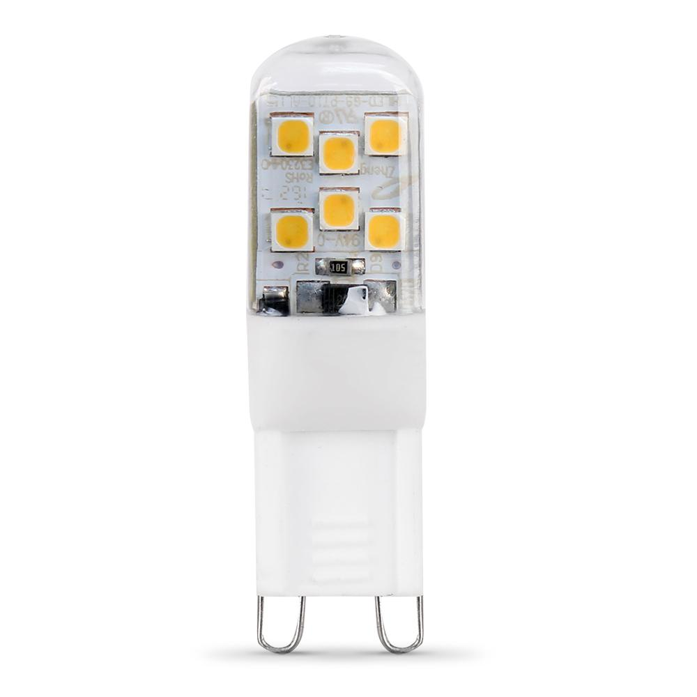 25W Equivalent G9 (3000K) LED High Lumen Light Bulb, Warm White