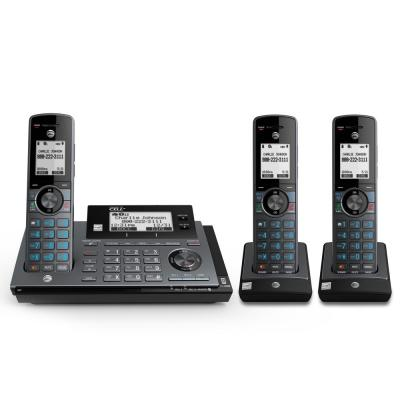 3-Handset DECT 6.0 Expandable Cordless Phone with Answering System and Connect to Cell and Smart Call Blocker