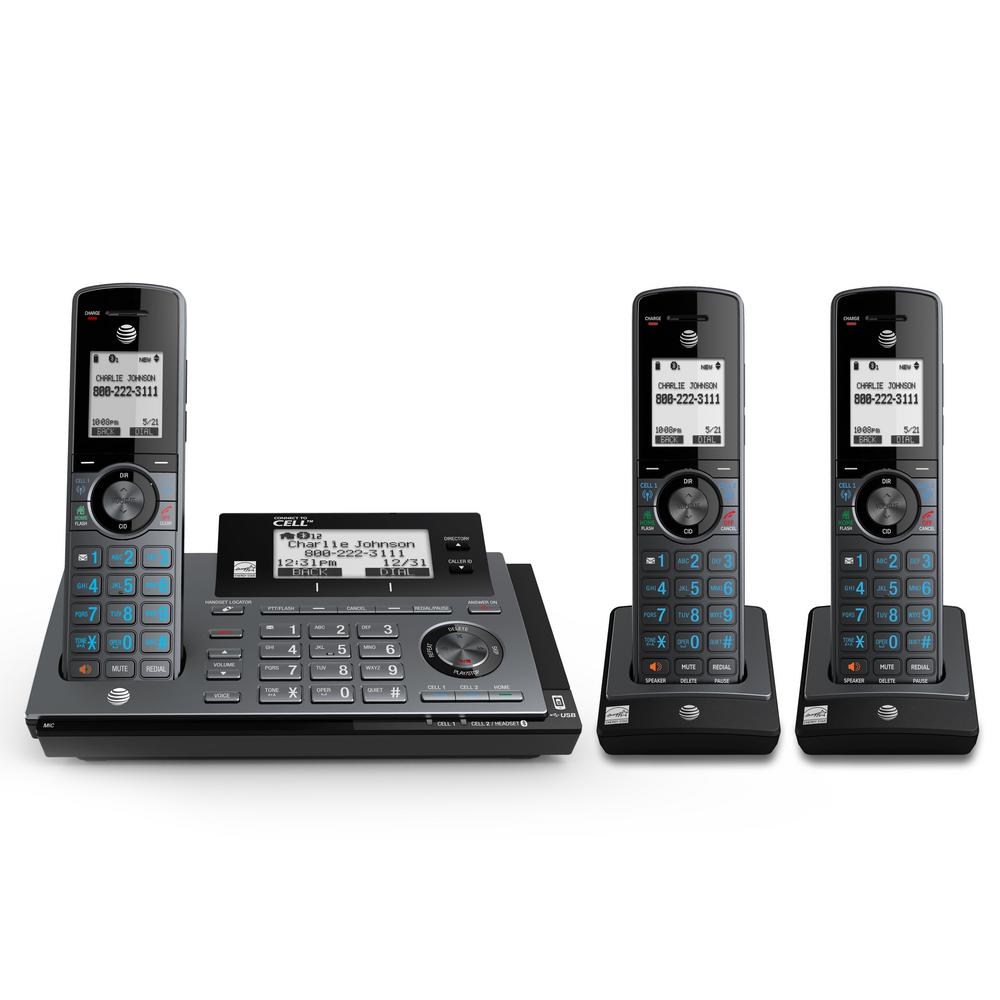 3-Handset DECT 6.0 Expandable Cordless Phone with Answering System and Connect