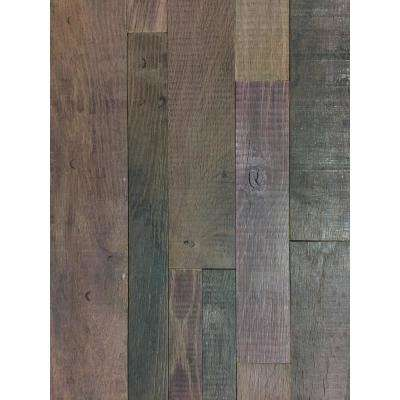 Reclaimed 1 in. x 39.5 in. x 11.5 in. Red Wine Soaked Wine Barrel Wood Wall Panel