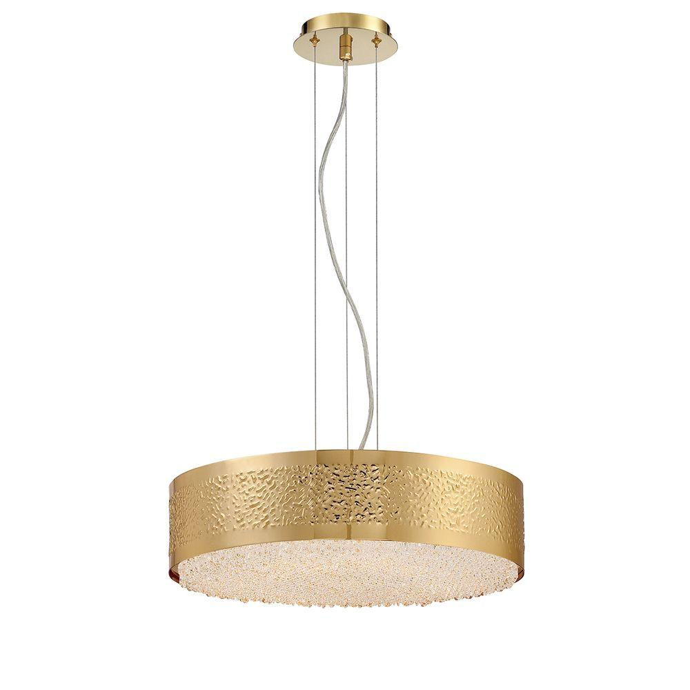 Cara 6-Light Gold Chandelier with Crystal Shade
