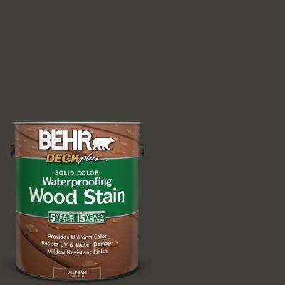 1 gal. #S-H-790 Black Suede Solid Color Waterproofing Wood Stain