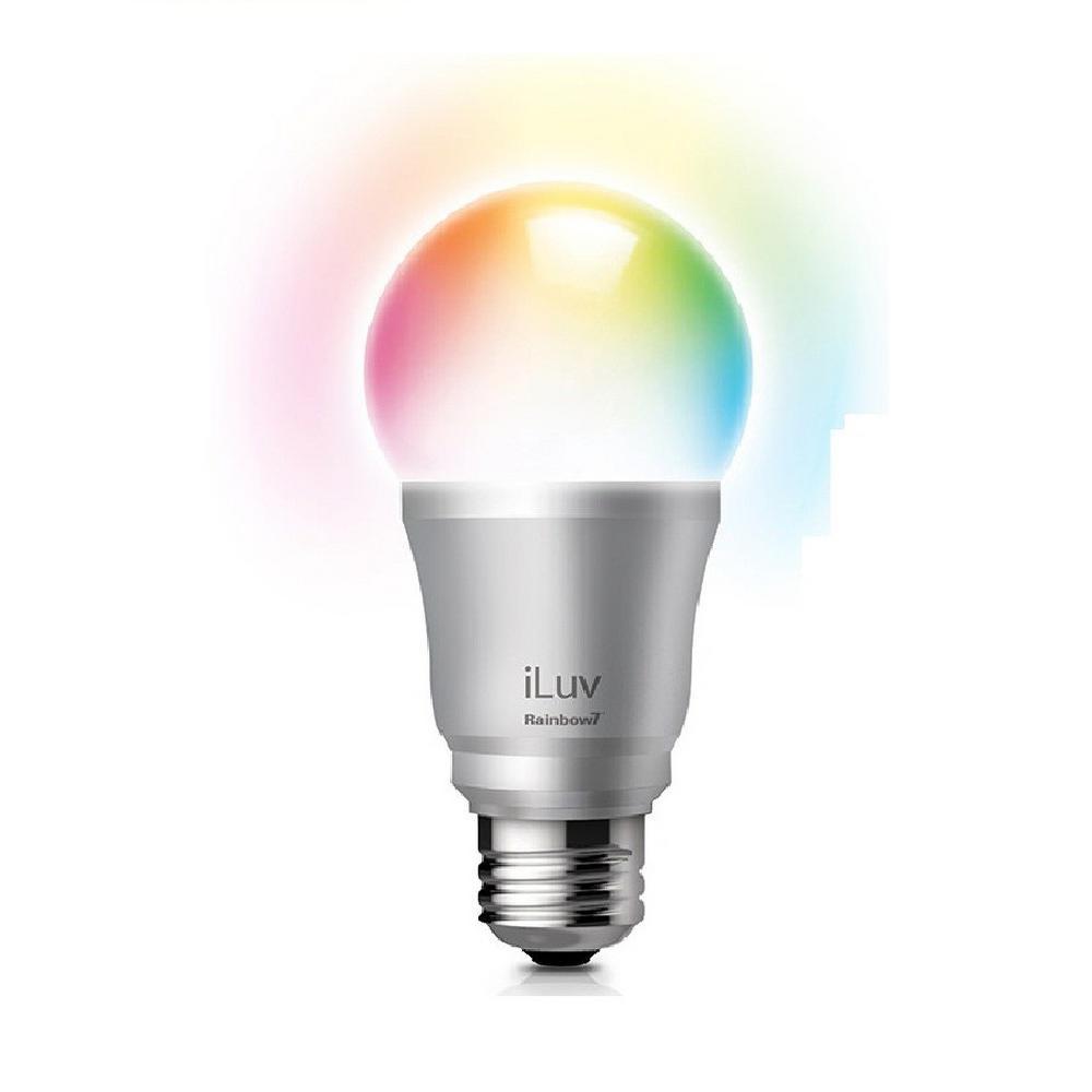 Rainbow7 Smartphone Controlled Bluetooth Multi-Color A19 LED Mood Light Bulb