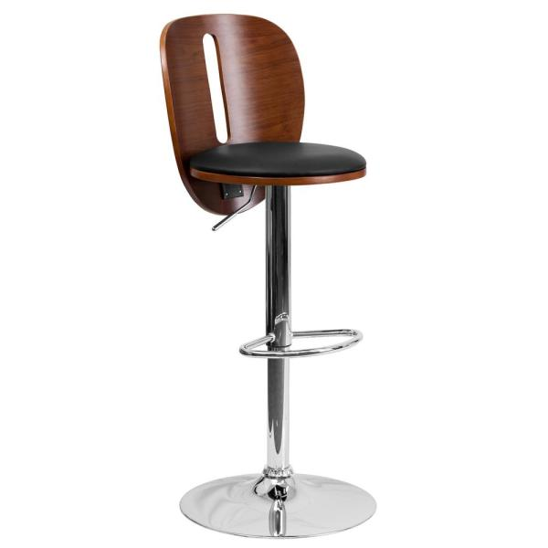 Flash Furniture Adjustable Height Brown Cushioned Bar Stool SD2220WAL