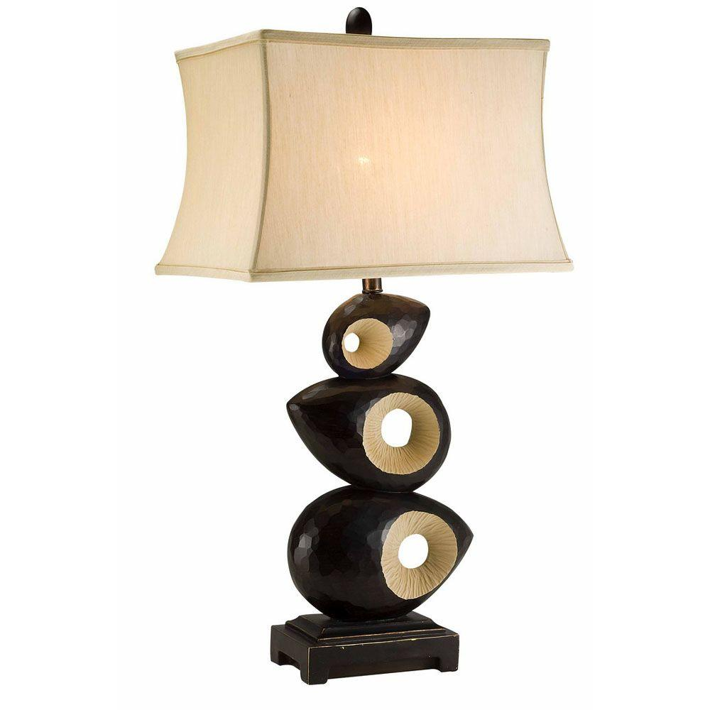 Ore international 33 in black african craft table lamp k 4221t black african craft table lamp aloadofball Choice Image