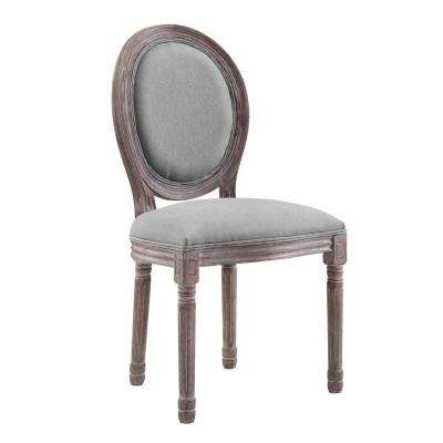 Emanate Light Gray Vintage French Upholstered Fabric Dining Side Chair