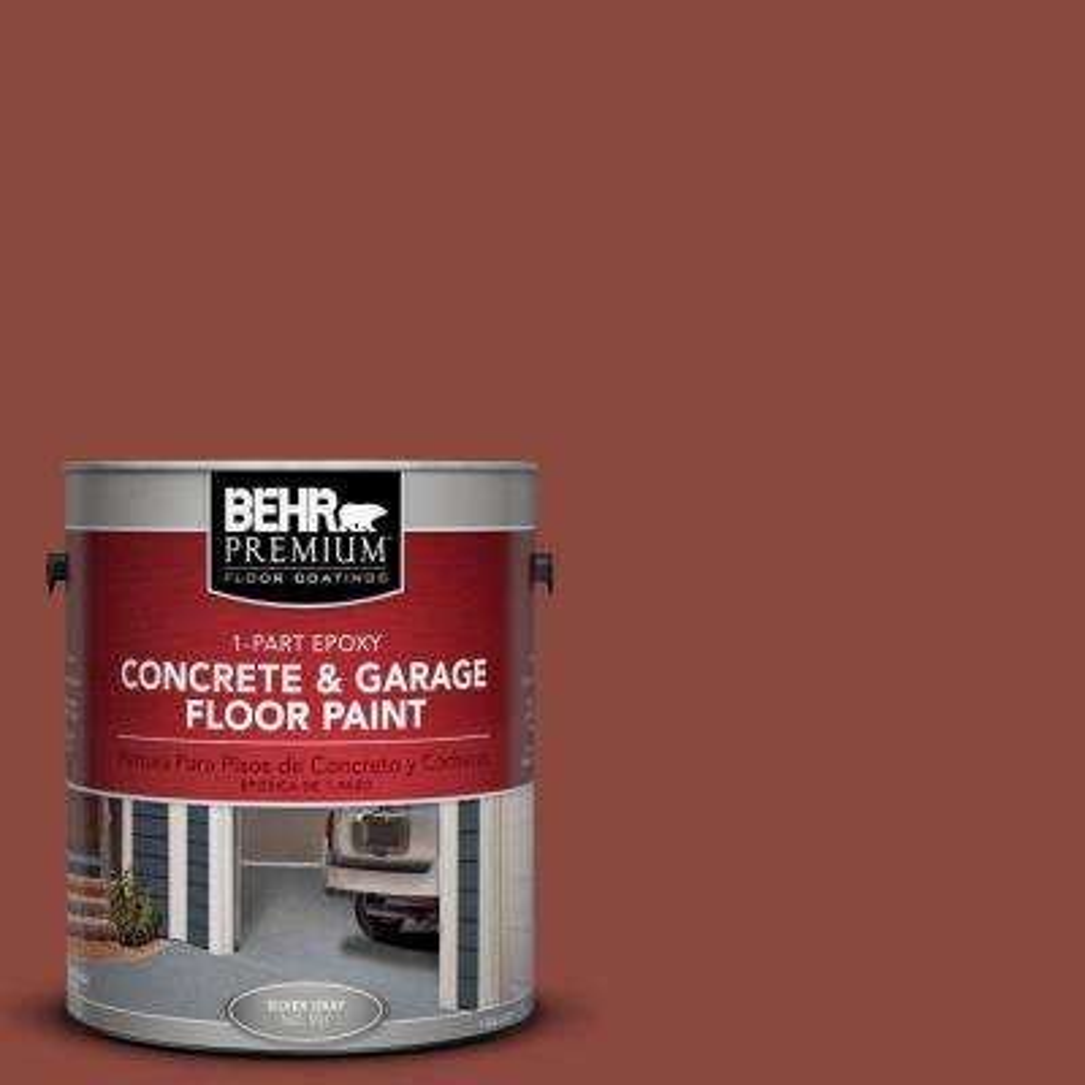 1 gal. #PFC-10 Deep Terra Cotta 1-Part Epoxy Concrete and Garage Floor Paint