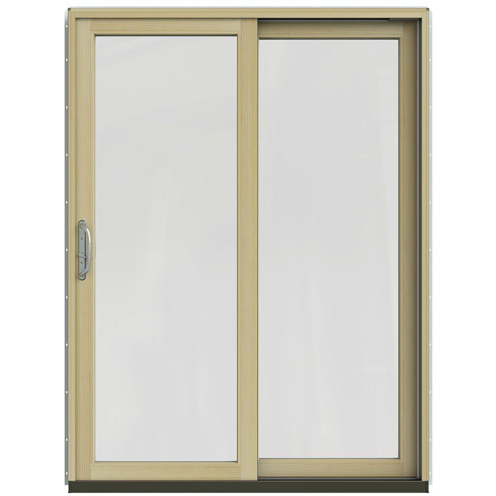 60 in. x 80 in. W-2500 Contemporary Vanilla Clad Wood Right-Hand