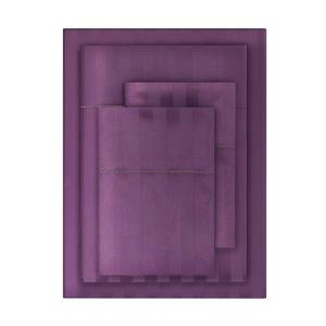 500 Thread Count Egyptian Cotton Sateen 4-Piece Queen Sheet Set in Orchid Damask