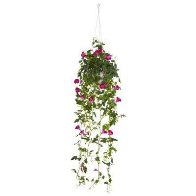 30 in. Petunia Hanging Basket Artificial Plant