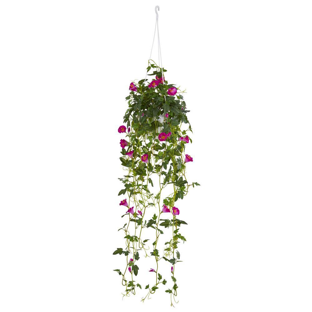 30 in. Petunia Hanging Basket Artificial Plant