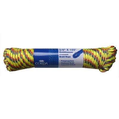 3/8 in. x 100 ft. Diamond Braid Polypropylene Rope