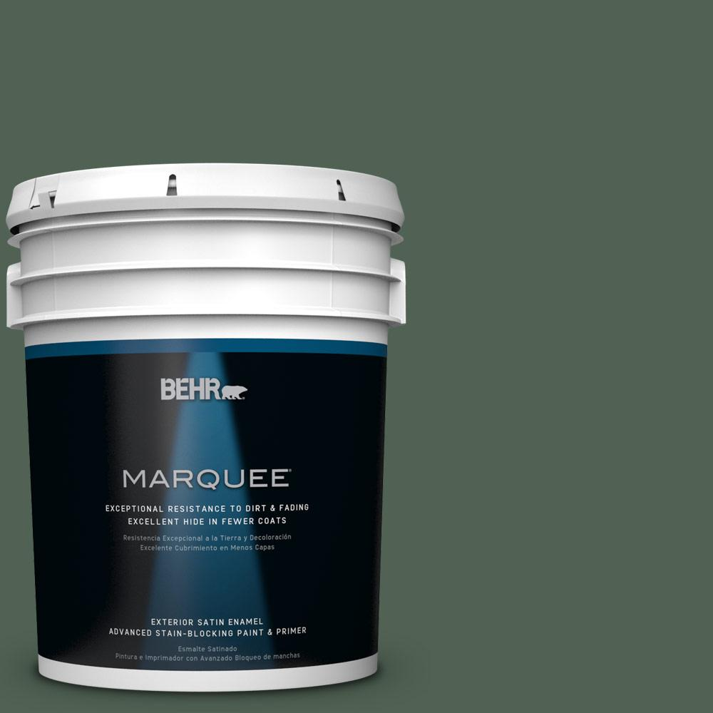 BEHR MARQUEE 5-gal. #BXC-60 Pasture Green Satin Enamel Exterior Paint