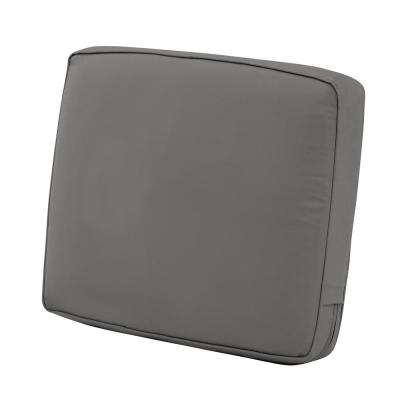 Montlake 23 in. W x 22 in. D x 4 in. Thick Light Charcoal Grey Outdoor Lounge Chair Back Cushion