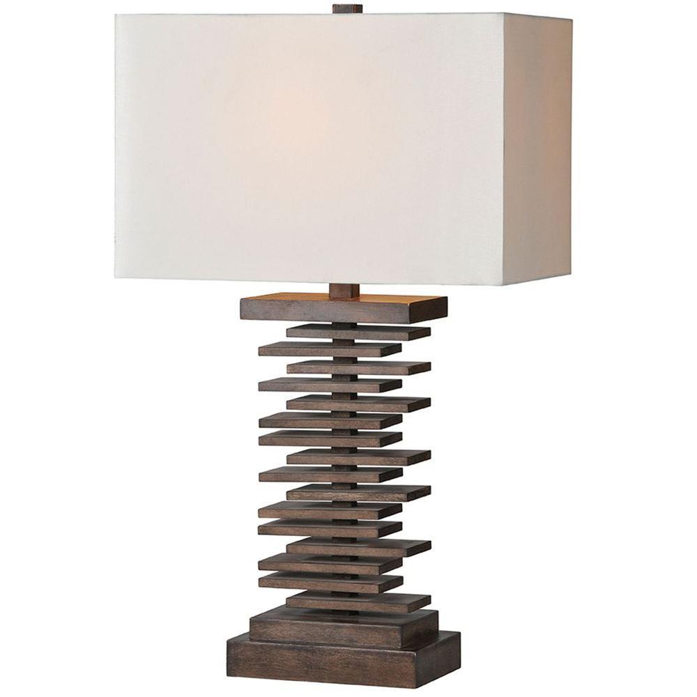 Luna 28 in. Brown Table Lamp
