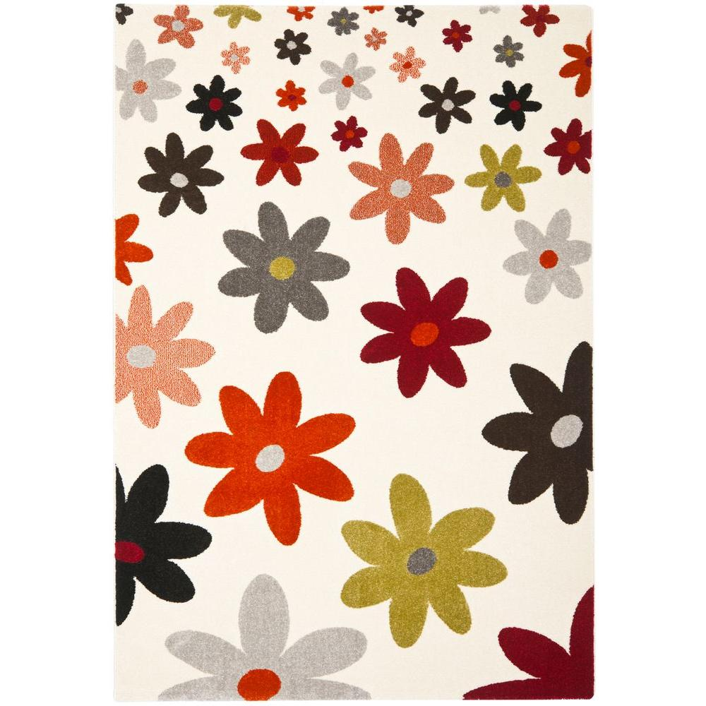 Safavieh Porcello Ivory Multi 4 Ft X 5 Ft 7 In Area Rug