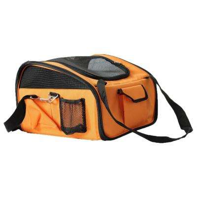 Orange Ultra-Lock Collapsible Safety Travel Wire Folding Dog Car Seat Carrier