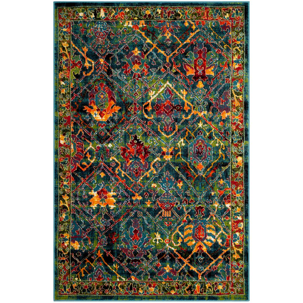 Safavieh Cherokee Blue Red 8 Ft X 10 Ft Area Rug Chr914b 8 The