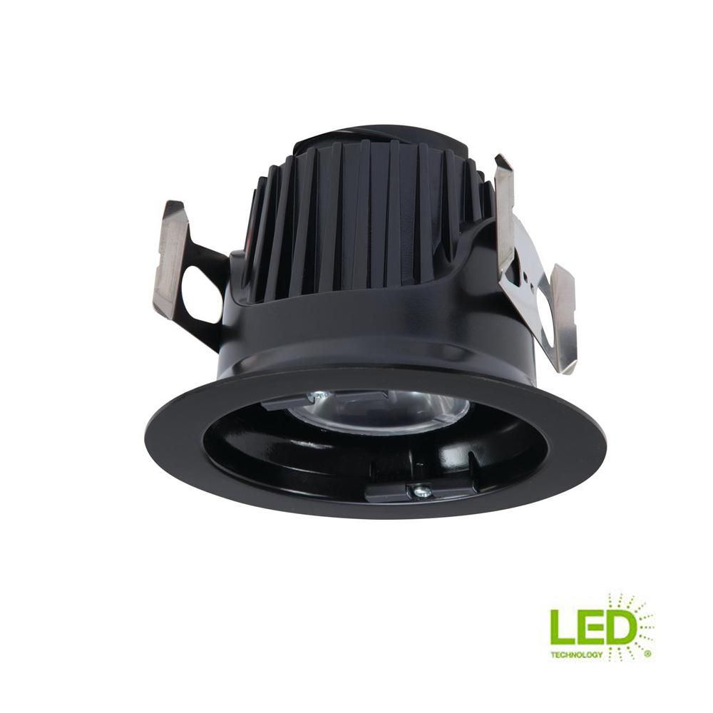 Halo Smd 5 In And 6 White Integrated Led Recessed Round Surface Light Wiring Diagram Black Ceiling Fixture Retrofit