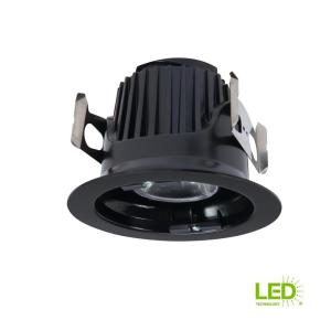 Halo ml 4 in black integrated led recessed ceiling light - Retrofit bathroom fan with light ...