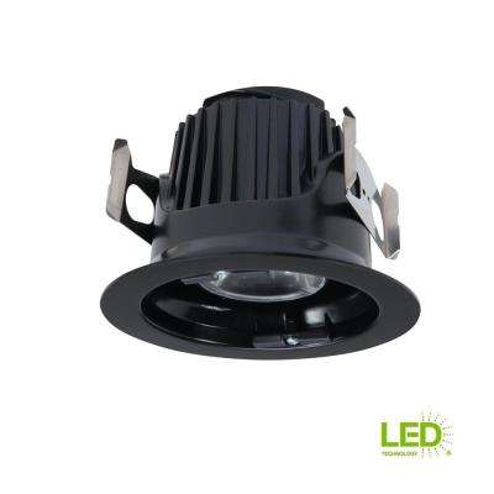 ML 4 in. Black Integrated LED Recessed Ceiling Light Fixture Retrofit Module at 90 CRI, 900 Lumens, 2700K Warm White