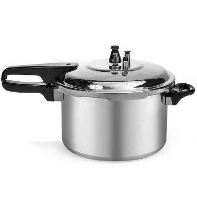 8 Qt. Aluminum Stove Top Pressure Cooker Pot with Steam Release Valve