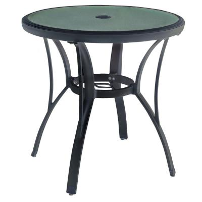 Commercial Grade Aluminum Brown Round Outdoor Patio Bistro Table