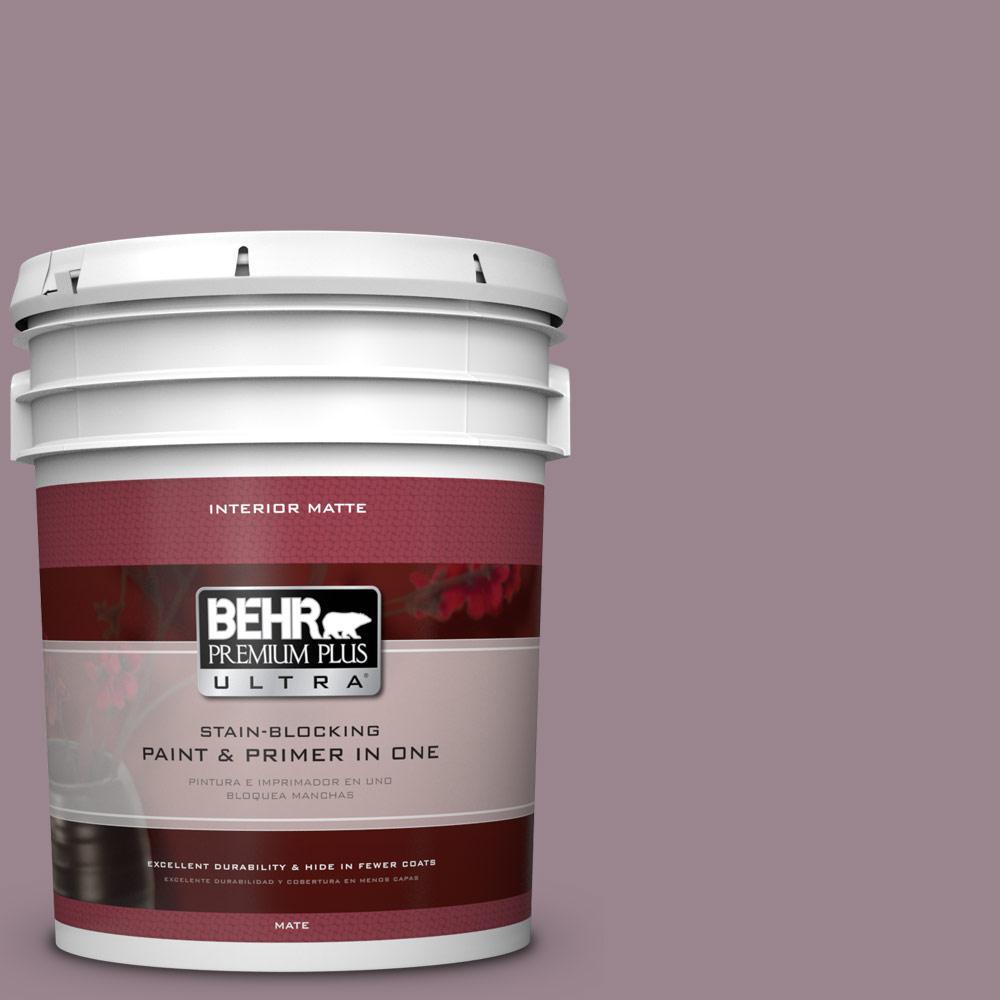 BEHR Premium Plus Ultra Home Decorators Collection 5 gal. #HDC-CL-05 Orchard Plum Flat/Matte Interior Paint