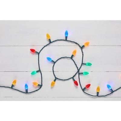 33 ft. 100-Light C6 LED Faceted Color-Changing Warm White to multicolor Light String