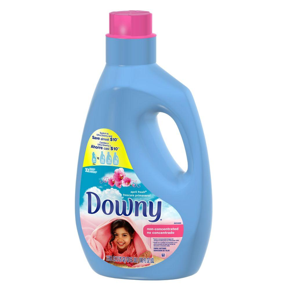 Downy 100 Oz April Fresh Scent Non Concentrated Fabric Softener