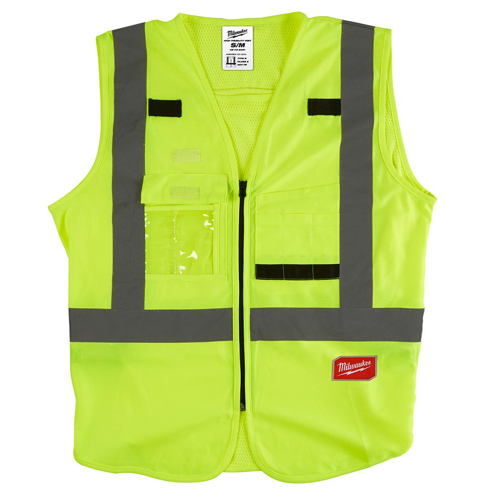 Milwaukee Milwaukee Small/Medium Yellow Class 2 High Visibility Safety Vest, Adult Unisex