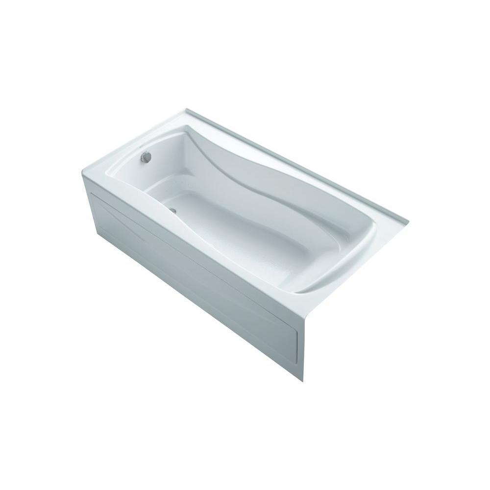 KOHLER Mariposa 6 ft. Air Bath Tub in White-K-1257-GLAW-0 - The Home ...