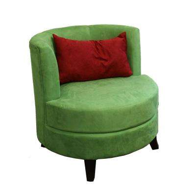 Green Polyurethane Accent Chair