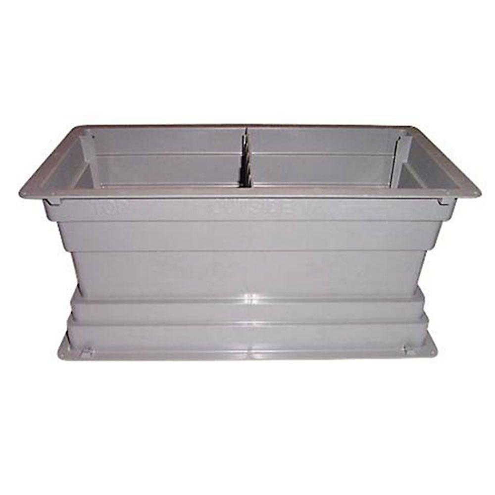 Gibraltar Building Products 6 in. x 7 in. x 16 in. Plastic Foundation Screened Block Vent with Damper