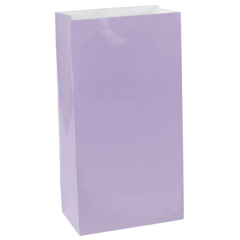 10 in. x 5.25 in. Lavender Paper Bags (12-Count, 9-Pack)
