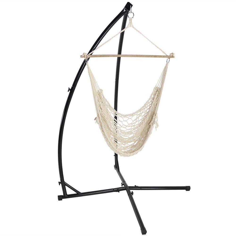 Sunnydaze Decor 3 75 Ft L Hanging Cotton Rope Hammock