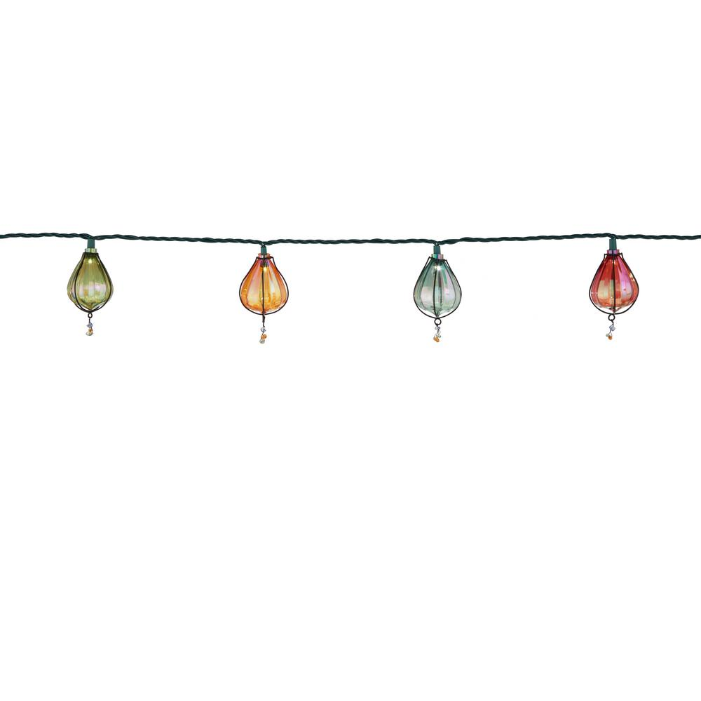 Hampton Bay 60-Light Warm White LED Battery-Operated Garden String Light-TYY065-1735 - The Home ...