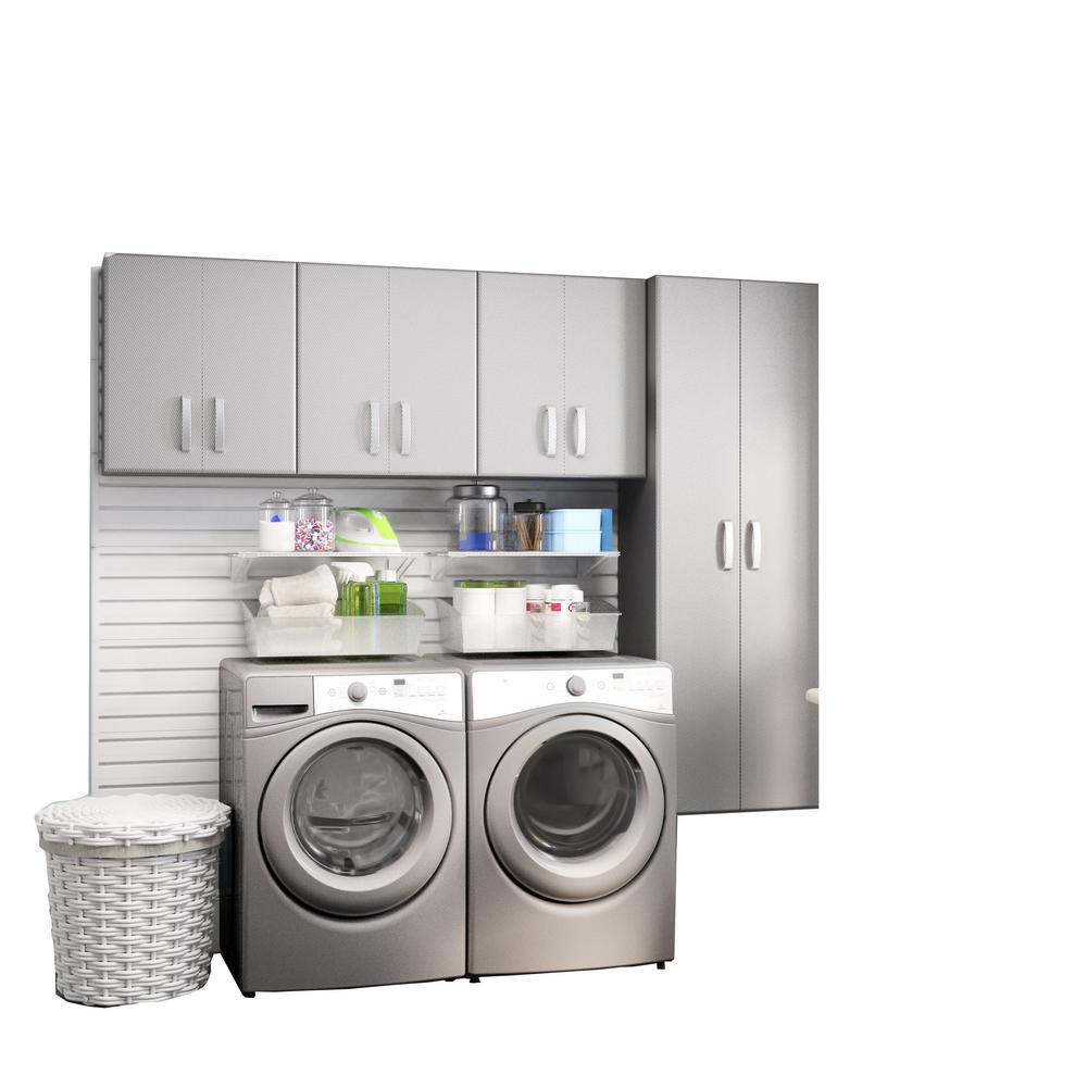 Modifi horizon 105 in w white laundry cabinet kit enl105 Laundry room storage