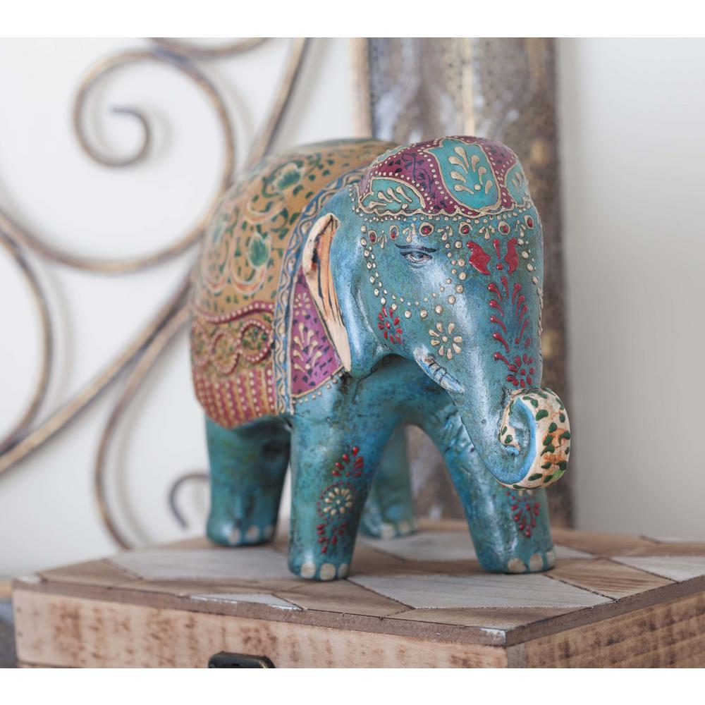 Elephant Paper Mache Decorative Sculpture-94542 - The Home Depot