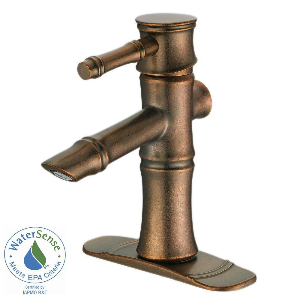 Danze South Sea 4 in. Single-Handle Bathroom Faucet in Distressed Bronze